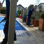 Nicht nur das Becken an sich - auch Außenanlagen können von uns gepflegt werden.